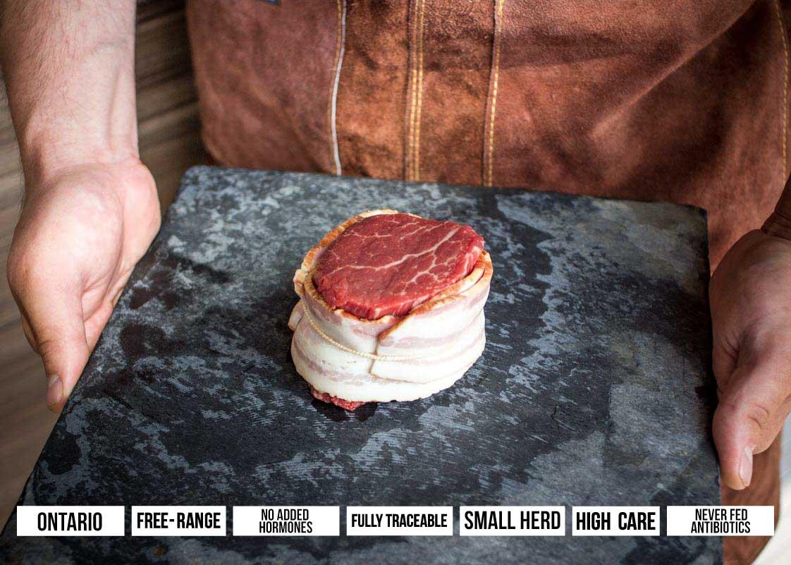VG Meats · Bacon Wrapped Tenderloin