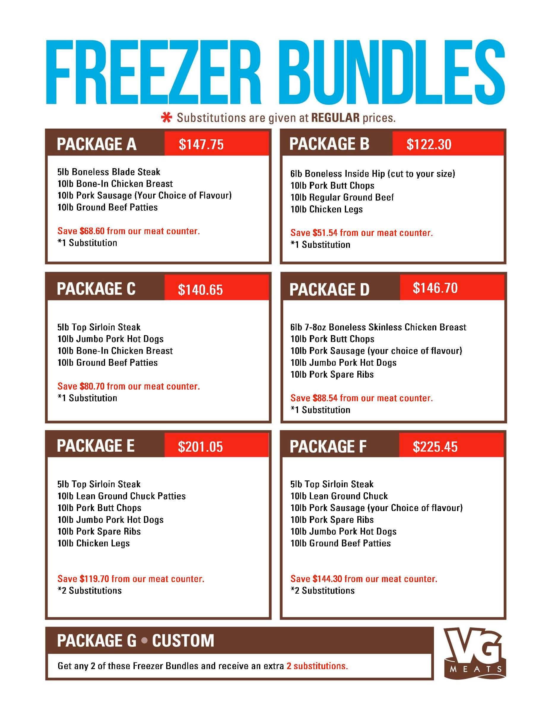 June 15 Freezer Bundles